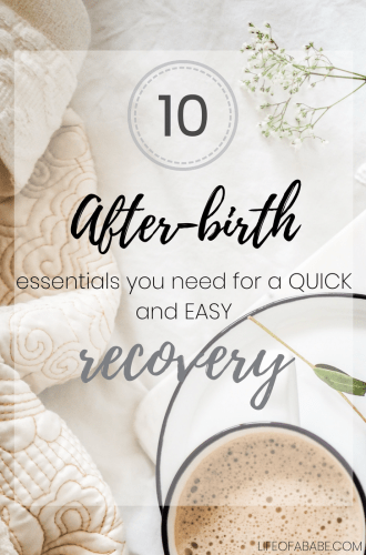 10 postpartum essentials (+ a secret one) you actually need for a quick recovery!
