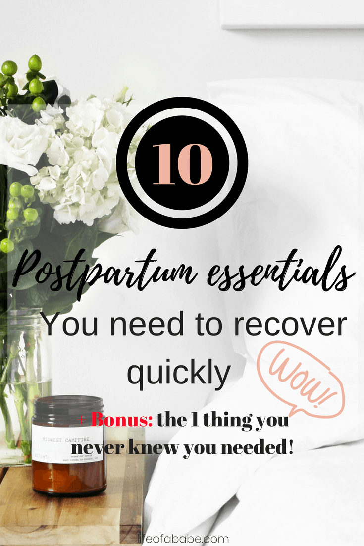 postpartum essentials you need to help you heal