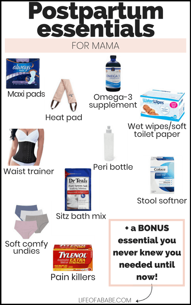 postpartum essentials you need to recover quickly plus a bonus