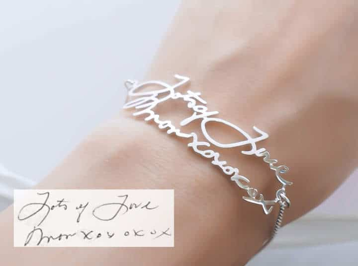 Etsy Signature Bracelet In Sterling Silver Personalized Gift Grandma