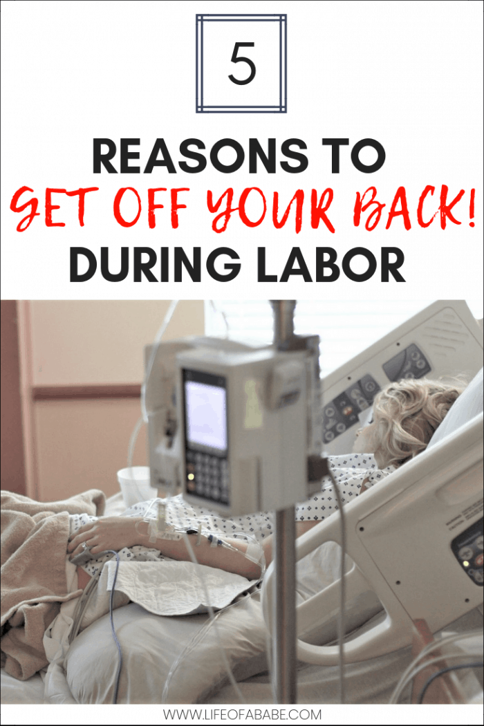5 Reasons To Get Off Your Back During Labor | Avoid the lithotomy position | Not the best position during labor