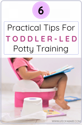 Toddler-led potty training tips for busy moms