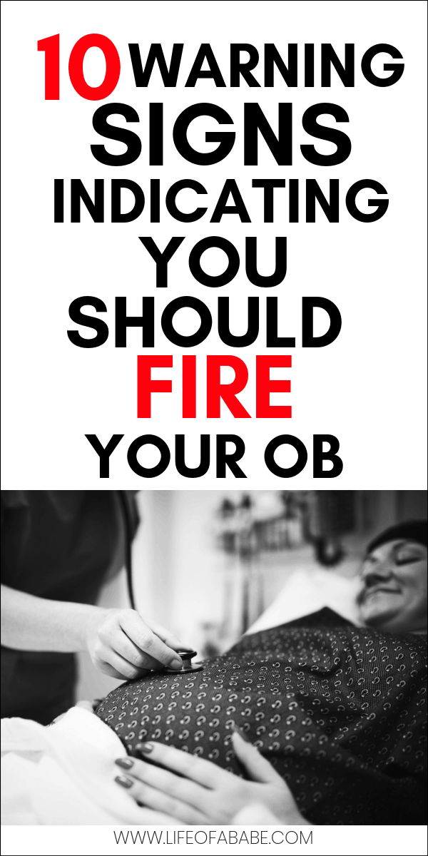 Warning signs indicating you should fire your OB