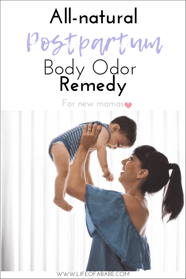 All-natural postpartum body odor remedy for new mamas