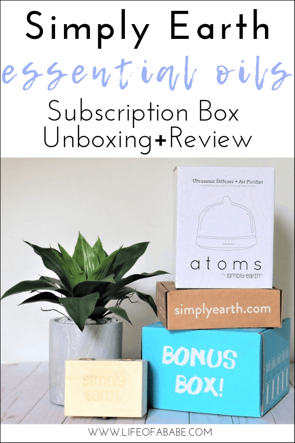 Simply Earth essential oils subscription box unboxing and review