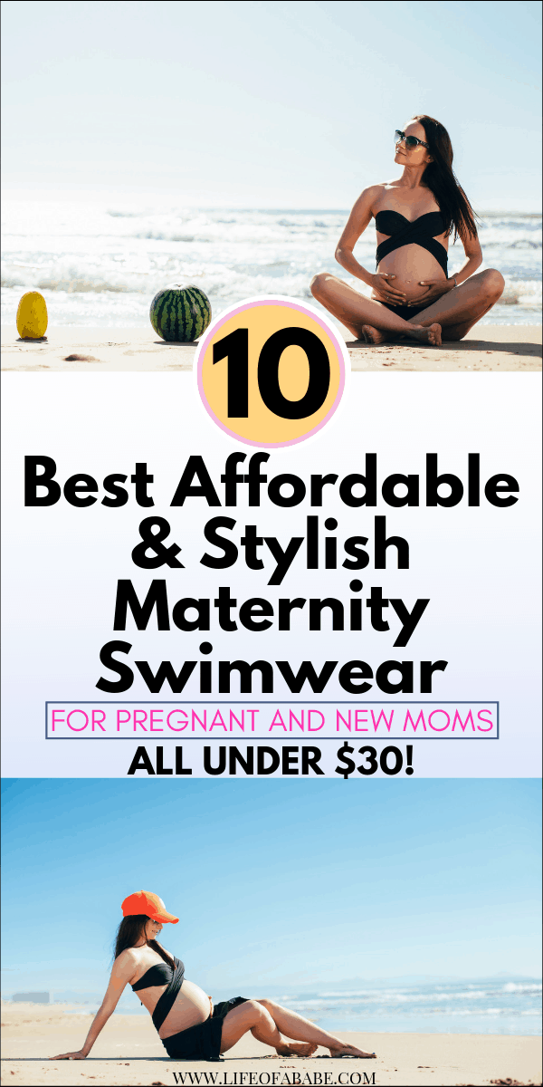 Top 10 Best Affordable & Stylish Maternity Swimwear For Pregnant And New Moms (All under $30!) | Affordable Maternity Swimwear For Pregnant And New Moms | maternity swimwear | maternity swimwear onepiece | maternity swimwear bikini | maternity swimwear tankini | maternity swimwear modest | pregnant bathing suit | two piece maternity bathing suit | #summer #beachwear #maternityfashion #newmoms #baby #postpartum