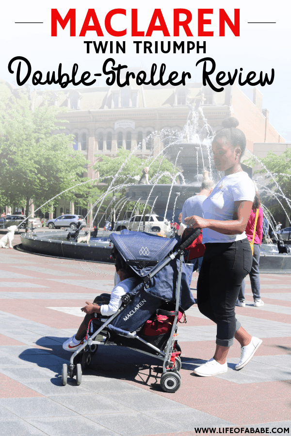 #sponsored | Maclaren twin triumph review | double stroller | double stroller side by side | double stroller for twins | double stroller for infant and toddlers | compact stroller | lightweight stroller | #newmoms #thirdtrimester #baby #momlife