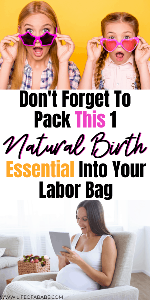 Don't forget to pack this 1 natural birth essential into your labor bag | Labor bag essentials | Natural birth essentials for a hospital birth | How to have a natural birth | what to do during labor | natural birth tips for new moms | how to have a natural birth in a hospital setting | how to have an empowered birth | #labor #natural #birth #pregnancy #newmoms #baby #postpartum #childbirth