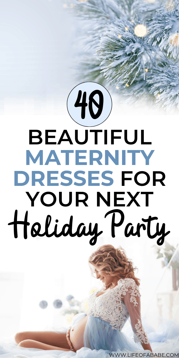 40 Beautiful holiday maternity dresses for your next Christmas and New Year's Parties | Holiday maternity dresses for pregnant moms | Maternity dress for the holidays | Holiday maternity dress | Maternity dresses for pregnant moms | Maternity New year's dress | Maternity Christmas dress | #pregnancyoutfits #newmoms #fashion #baby #thirdtrimester #maternityfashion #maternitystyle #pregnancy #childbirth #laboranddelivery #christmas #newyears