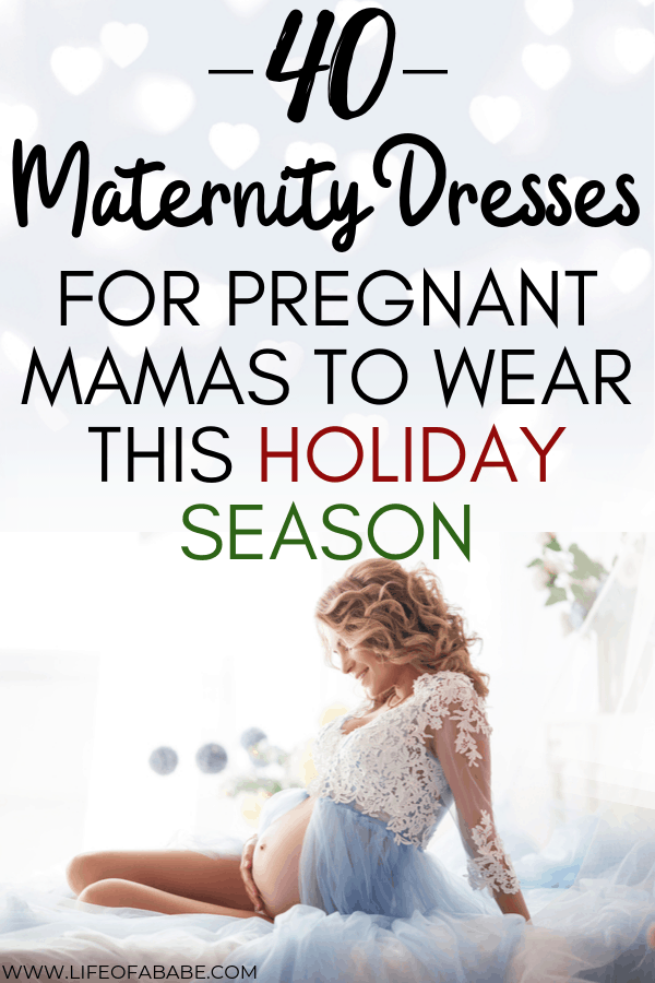 40 Maternity dresses for pregnant mamas to wear this holiday season | Holiday maternity dresses for pregnant moms | Maternity dress for the holidays | Holiday maternity dress | Maternity dresses for pregnant moms | Maternity New year's dress | Maternity Christmas dress | #pregnancyoutfits #newmoms #fashion #baby #thirdtrimester #maternityfashion #maternitystyle #pregnancy #childbirth #laboranddelivery #christmas #newyears