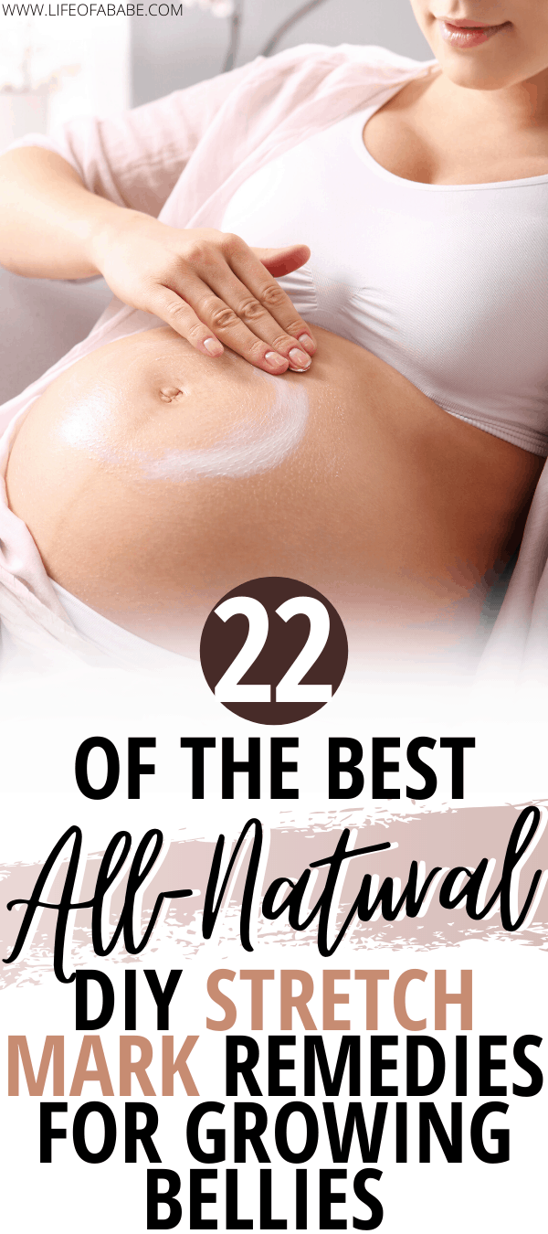 22 Of The Best All-Natural DIY Stretch Mark Remedies. Stretch mark creams. Belly butters for stretch marks. Natural stretch mark removal diy. Natural stretch mark prevention. #lifeofababe #newmom #baby #pregnancy #postpartum #thirdtrimester #laboranddelivery